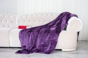 throw blanket on couch