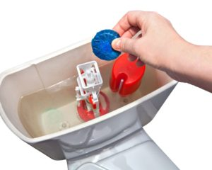 Automatic Toilet Bowl Cleaner Placed in Tank
