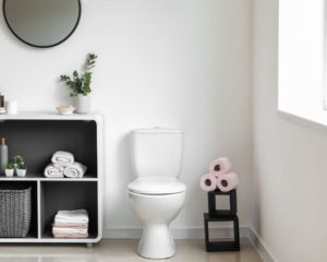 Modern Bathroom with Small Toilet