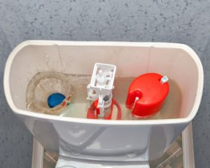 Top of Toilet Showing Toilet Fill Valve