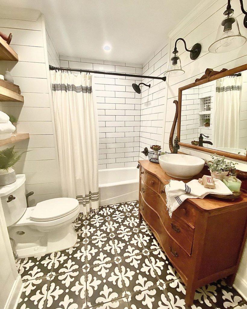 rustic farmhouse reclaimed bathroom cabinet ideas