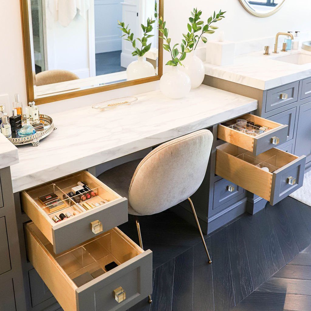 bathroom cabinet ideas for a bathroom with makeup station