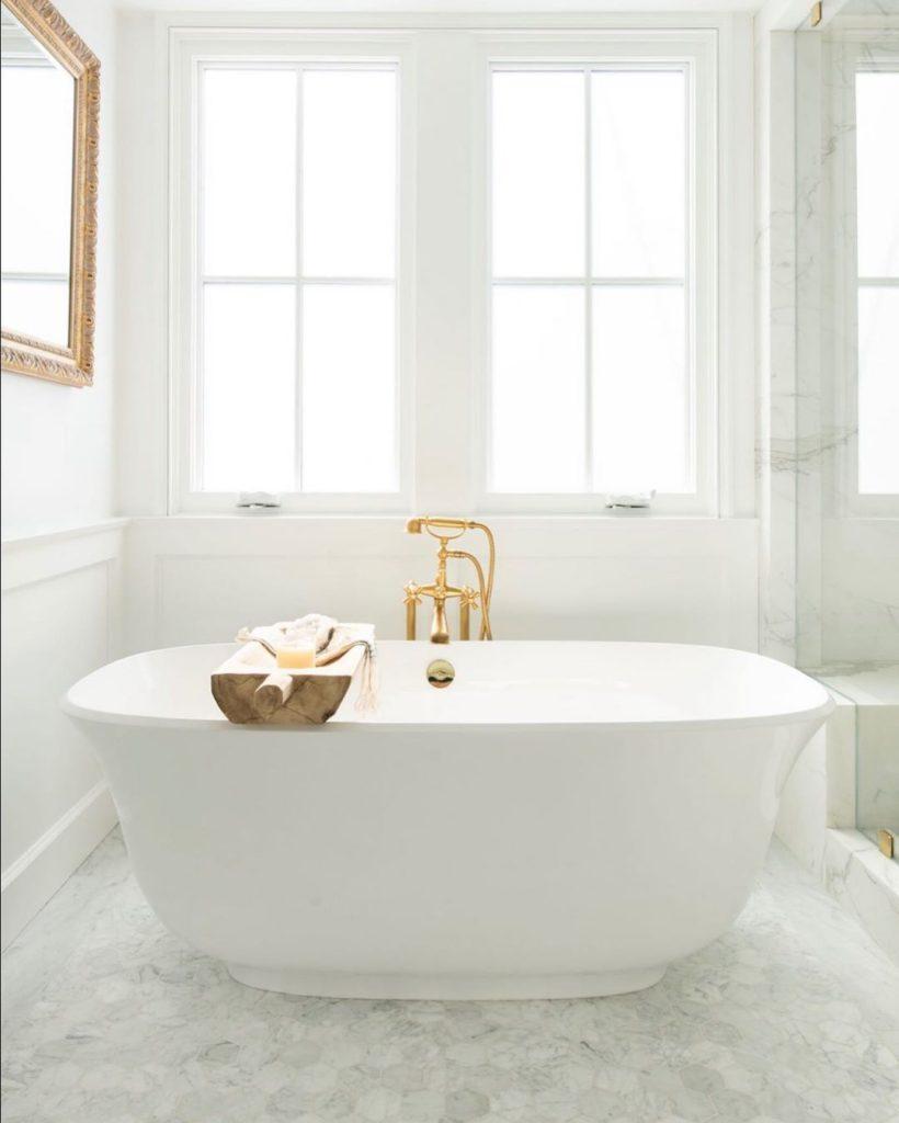 luxury gold bath tub idea marble