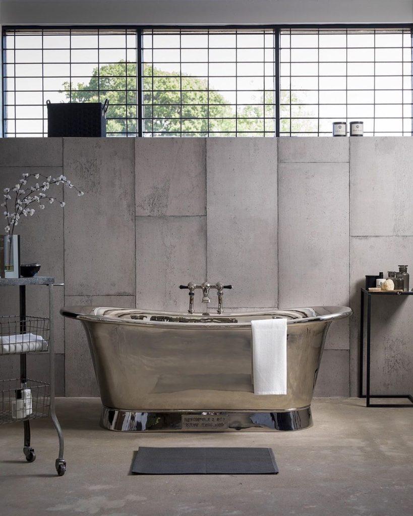 metal bath tub idea