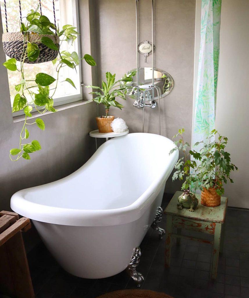 bath tub idea with greenery