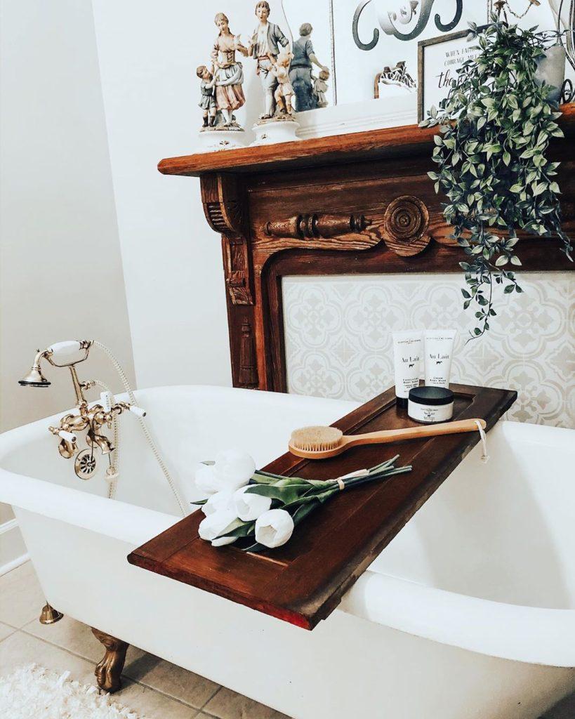 rustic bath tub idea