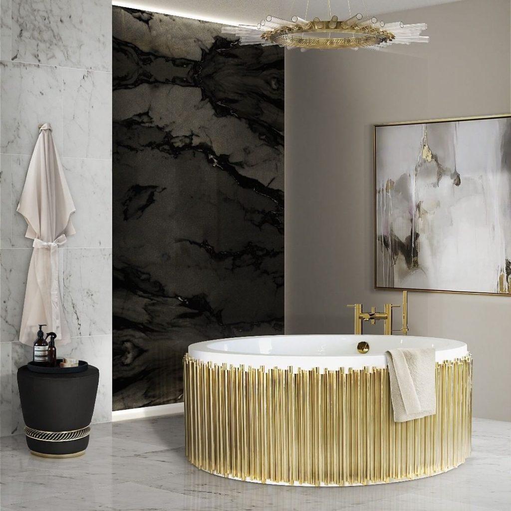 gold luxury bath tub idea
