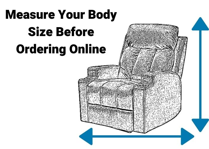 Wall hugger recliner being measured to ensure a good fit for the body