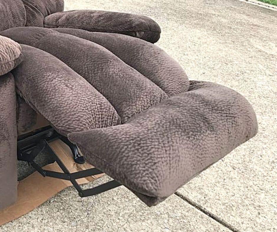 recliner footrest stuck in open position