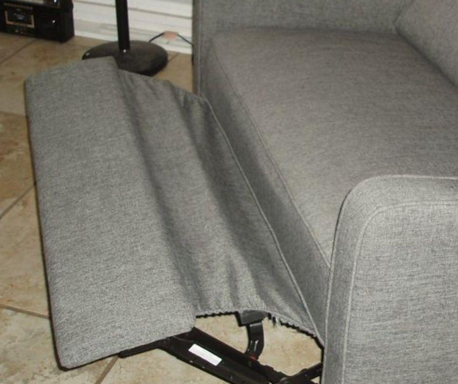 bent recliner footrest