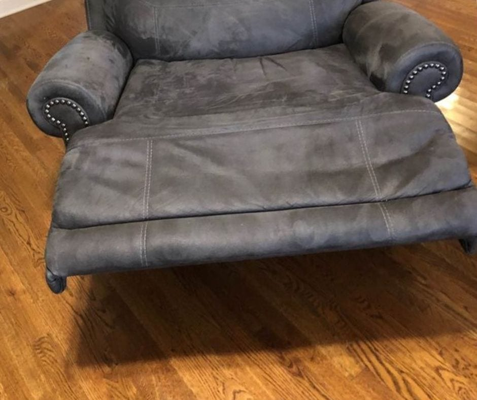recliner footrest leaning to one side