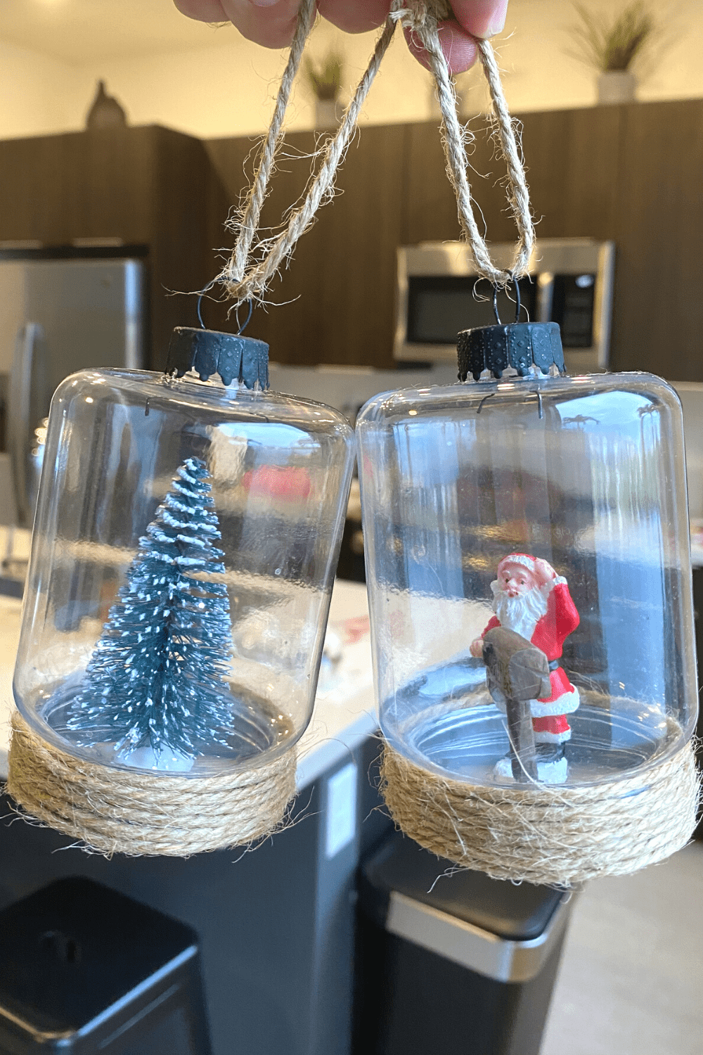 DIY Rustic Christmas Ornaments with Twine