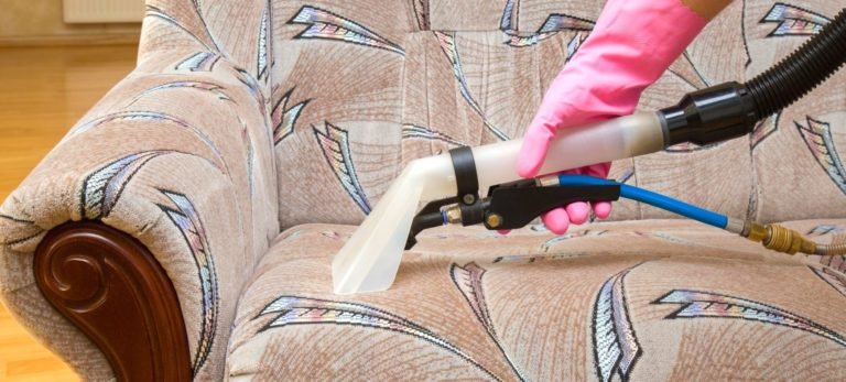 Recliner being cleaned
