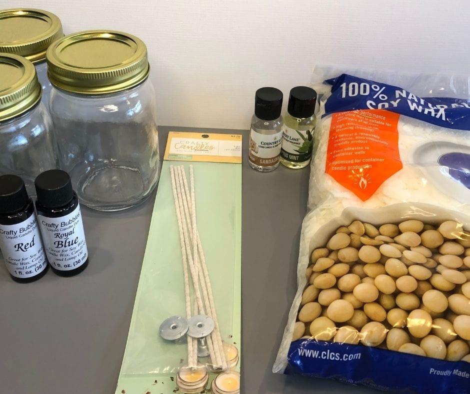 candle makig ingredients