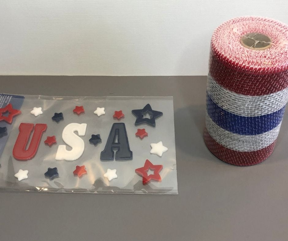 DIY July the 4th candle items needed