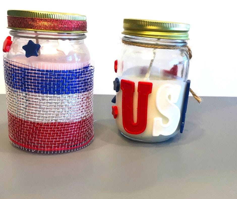 finished july the 4th decorative candles