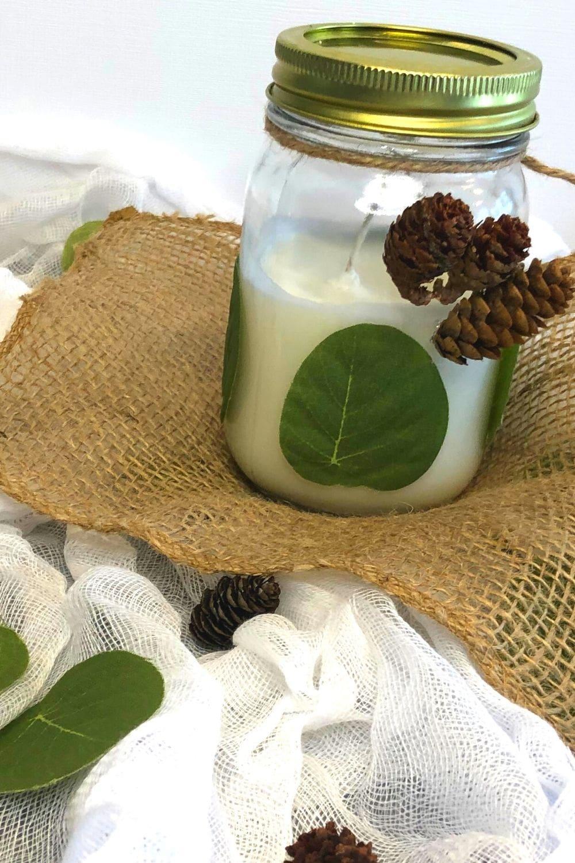 diy mens candle gift in mason jar