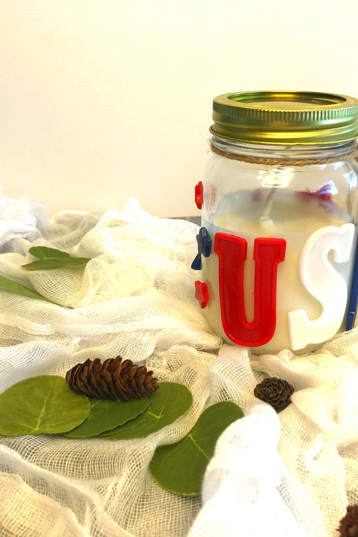 4th of july diy mason jar candle
