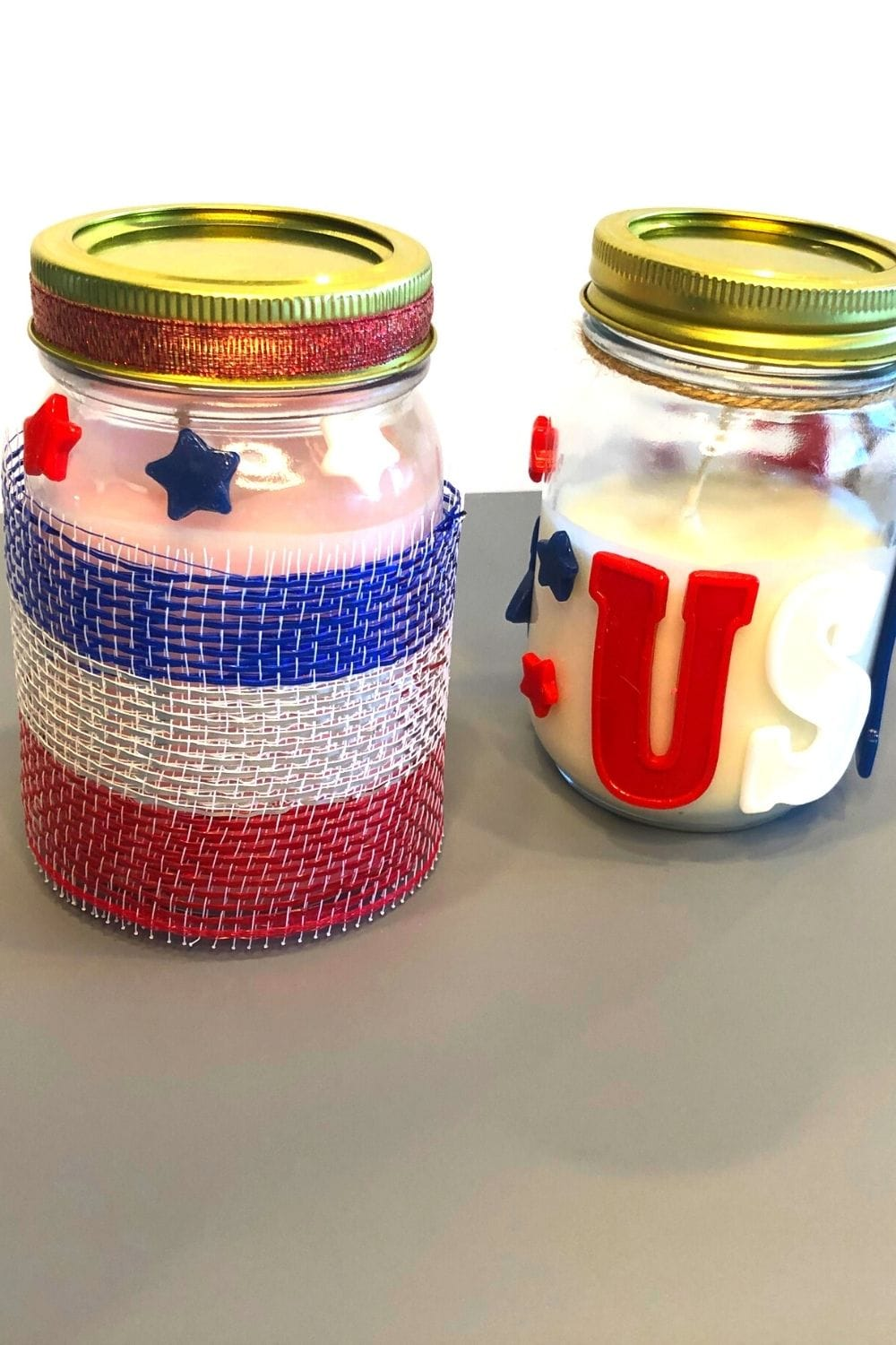 4th of july diy candles