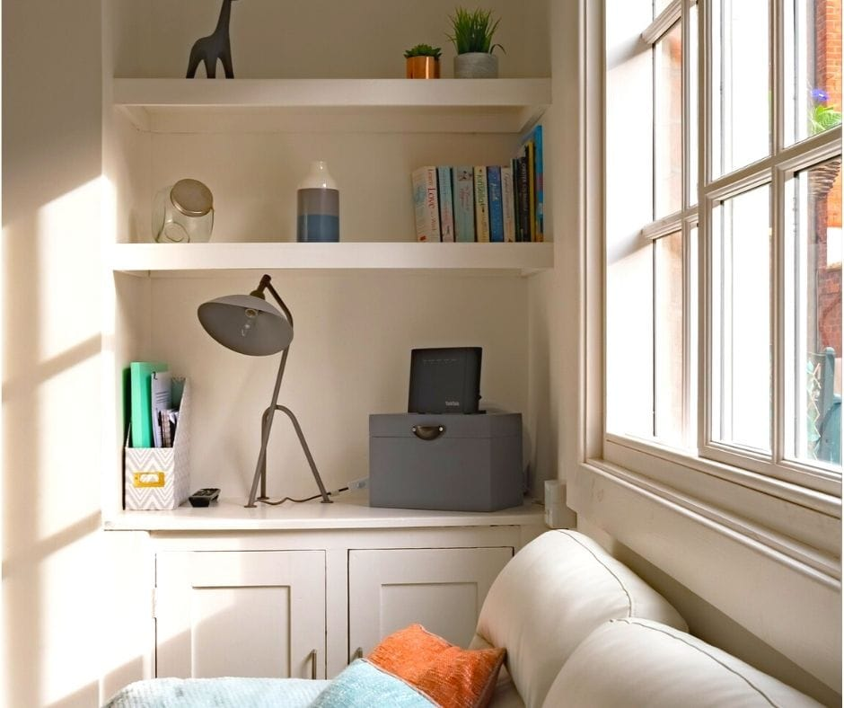Make a room bigger by emphasizing verticality