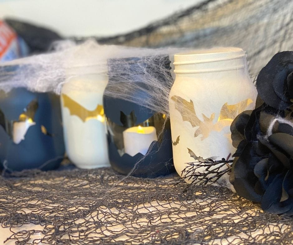 diy mason jar halloween decor candles