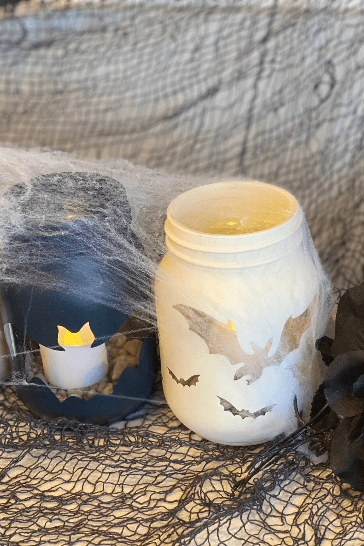 diy halloween mason jar candles