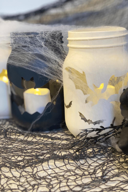 diy mason jar halloween candles