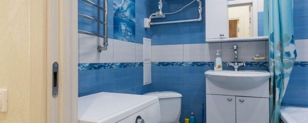 Corner Toilet in Small Bathroom