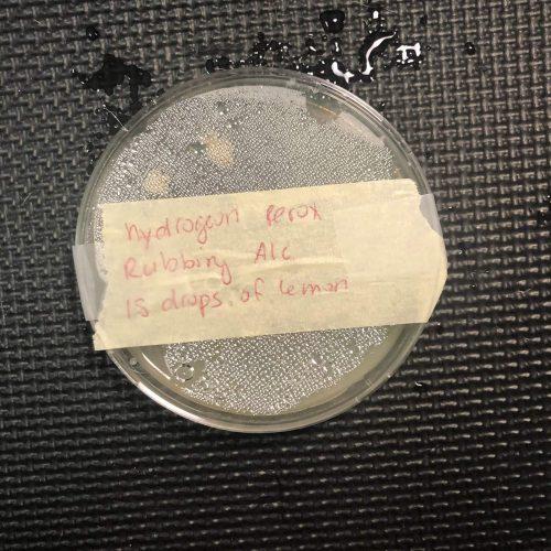 Hydrogen peroxide test blend