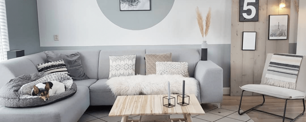 How to place rug under sectional sofa